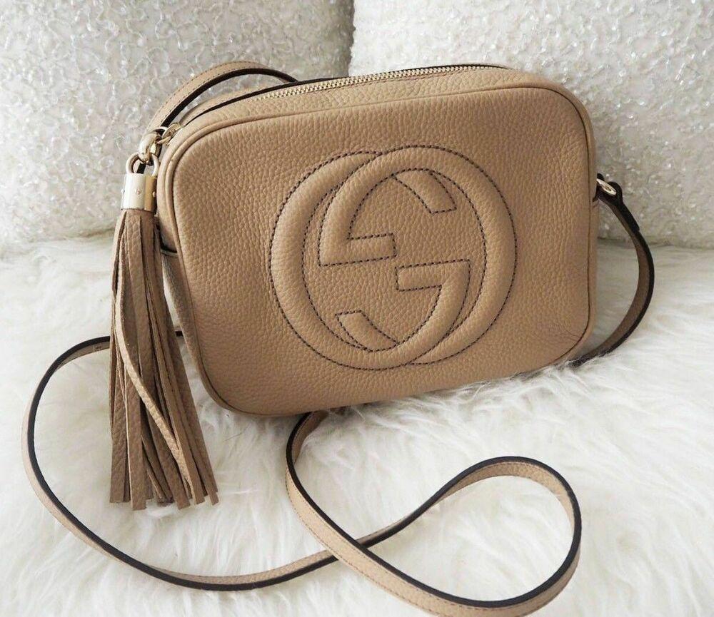26a1197a0b1 AUTHENTIC Gucci SOHO Disco Bag Handbag Rose Beig  fashion  clothing  shoes   accessories