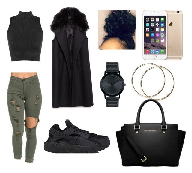 """""""Untitled #5"""" by sshyanne ❤ liked on Polyvore featuring WearAll, NIKE, Zara, Movado and MICHAEL Michael Kors"""