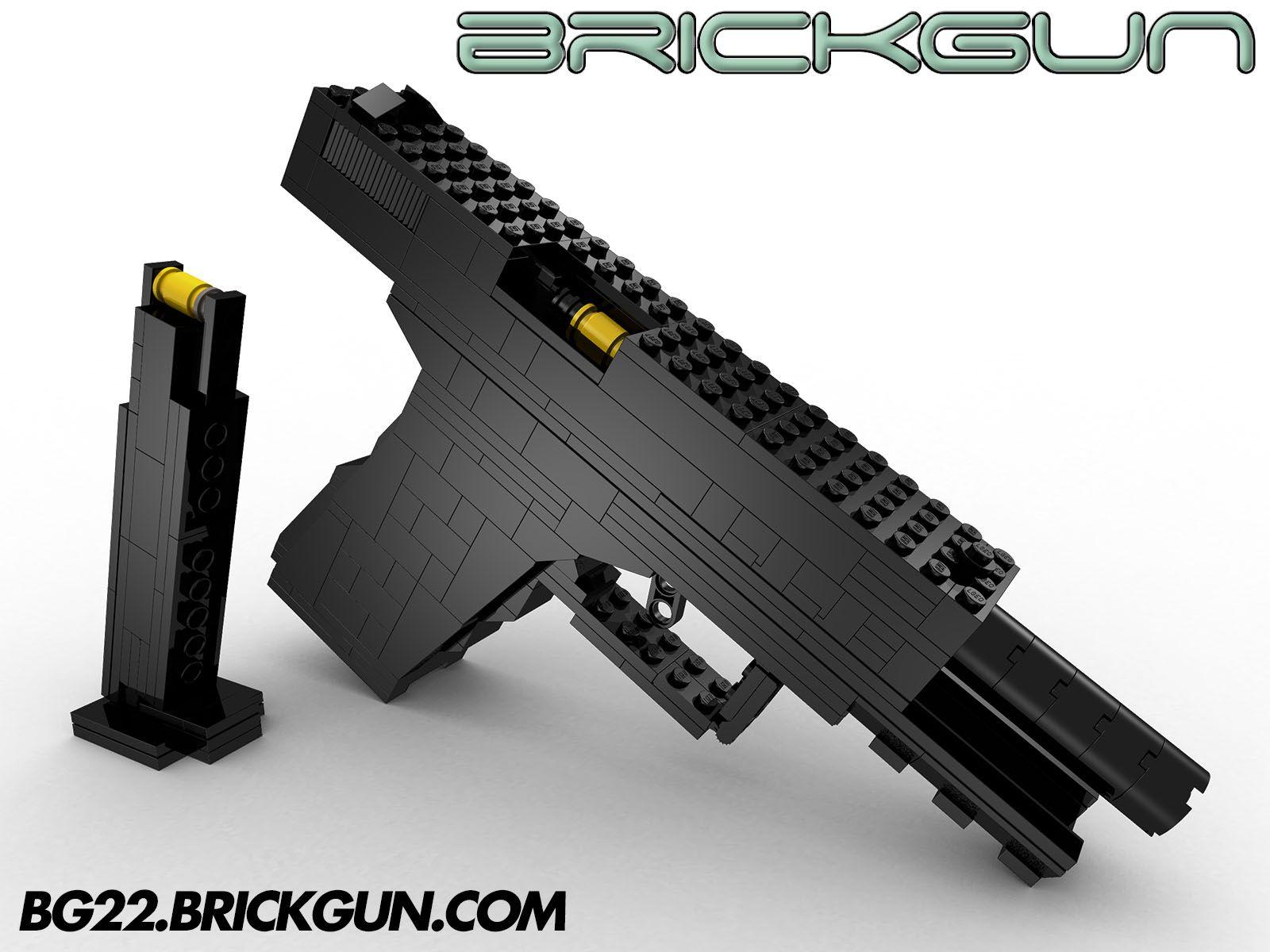 The Brickgun Lego Bg22 With Magazine Our Handgun Model That