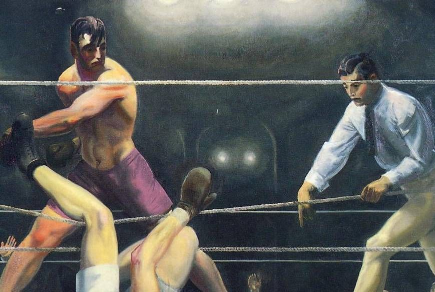 Dempsey & Firpo By George Bellows