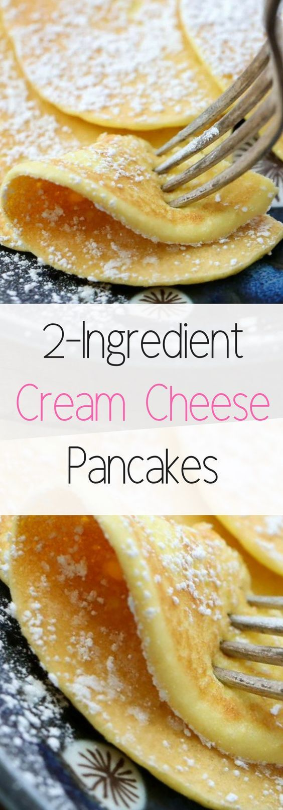 Cream Cheese Pancakes are a low-carb breakfast option that does not disappoint! Just two ingredients are all you need. Ingredients 4 ounces cream cheese 4 eggs Optional: vanilla or cinnamon I rarel… #creamcheeserecipes