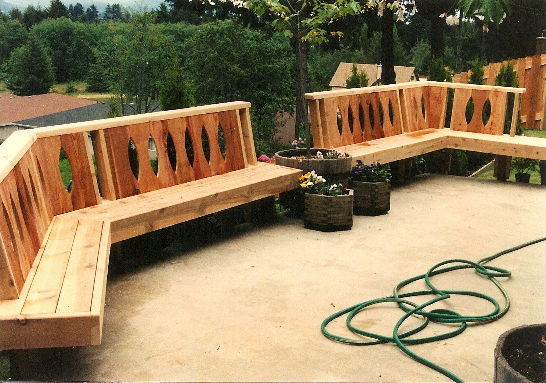Patios, Decks, & Railings   Garden bench plans, Patio ...