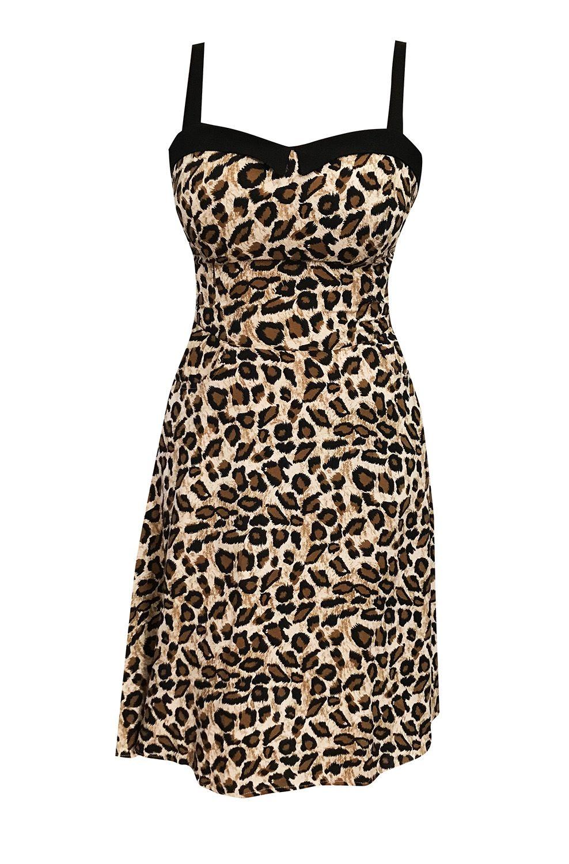 5eef1b83122c Women's Leopard Swing Dress in 2019 | ~~~ Rockabella & Rockabilly ...