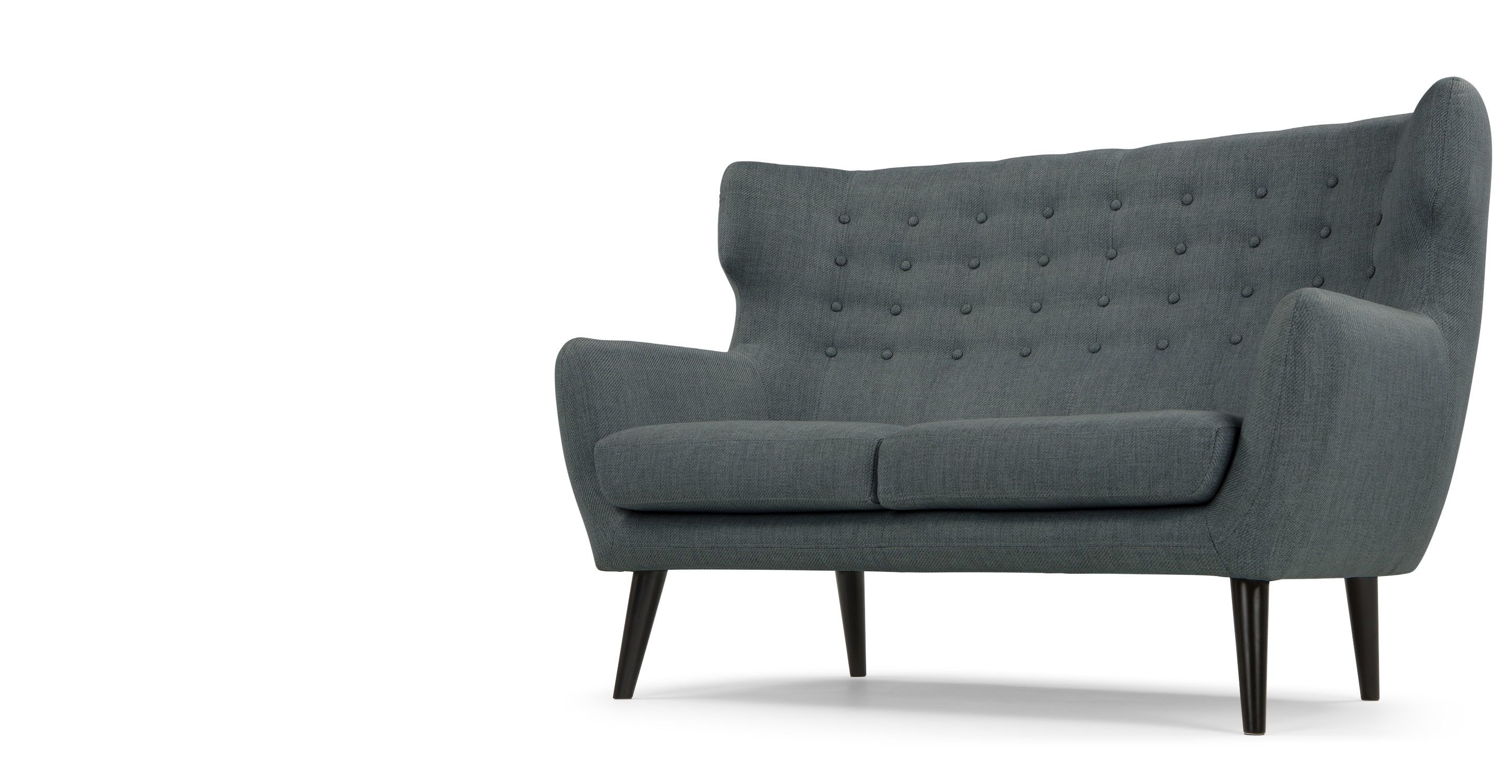 Kubrick 2 Seater Sofa Anthracite Grey from Made Express