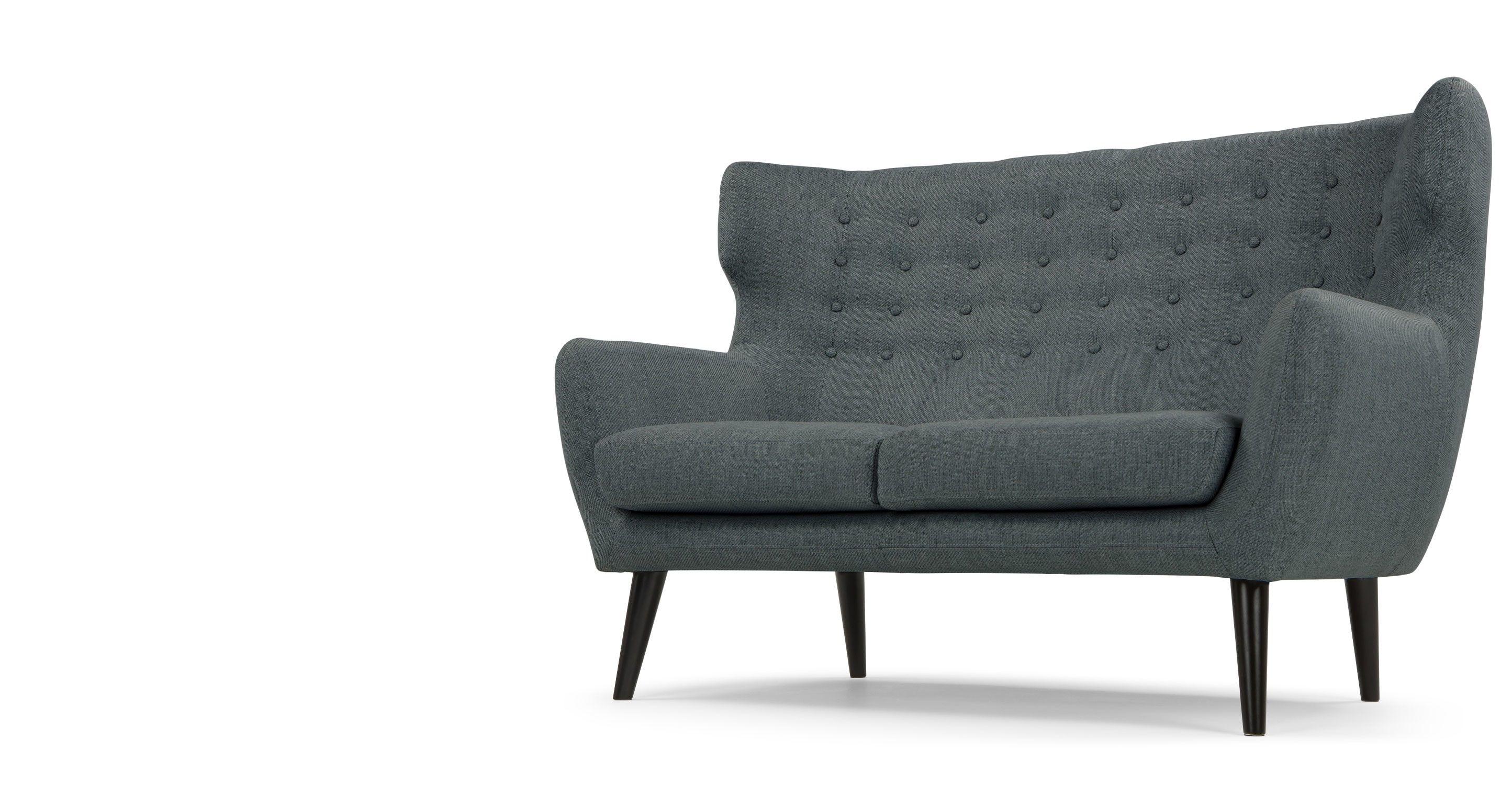Kubrick 2 Sitzer Sofa Anthrazit