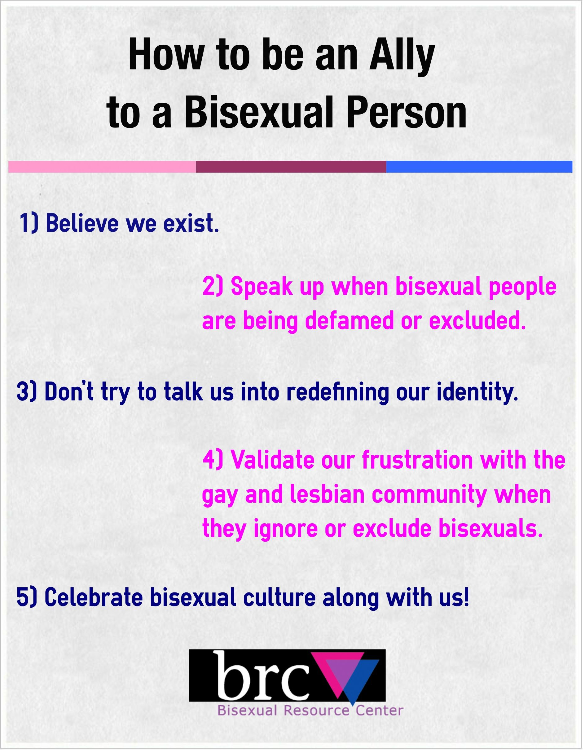 How to be bisexual
