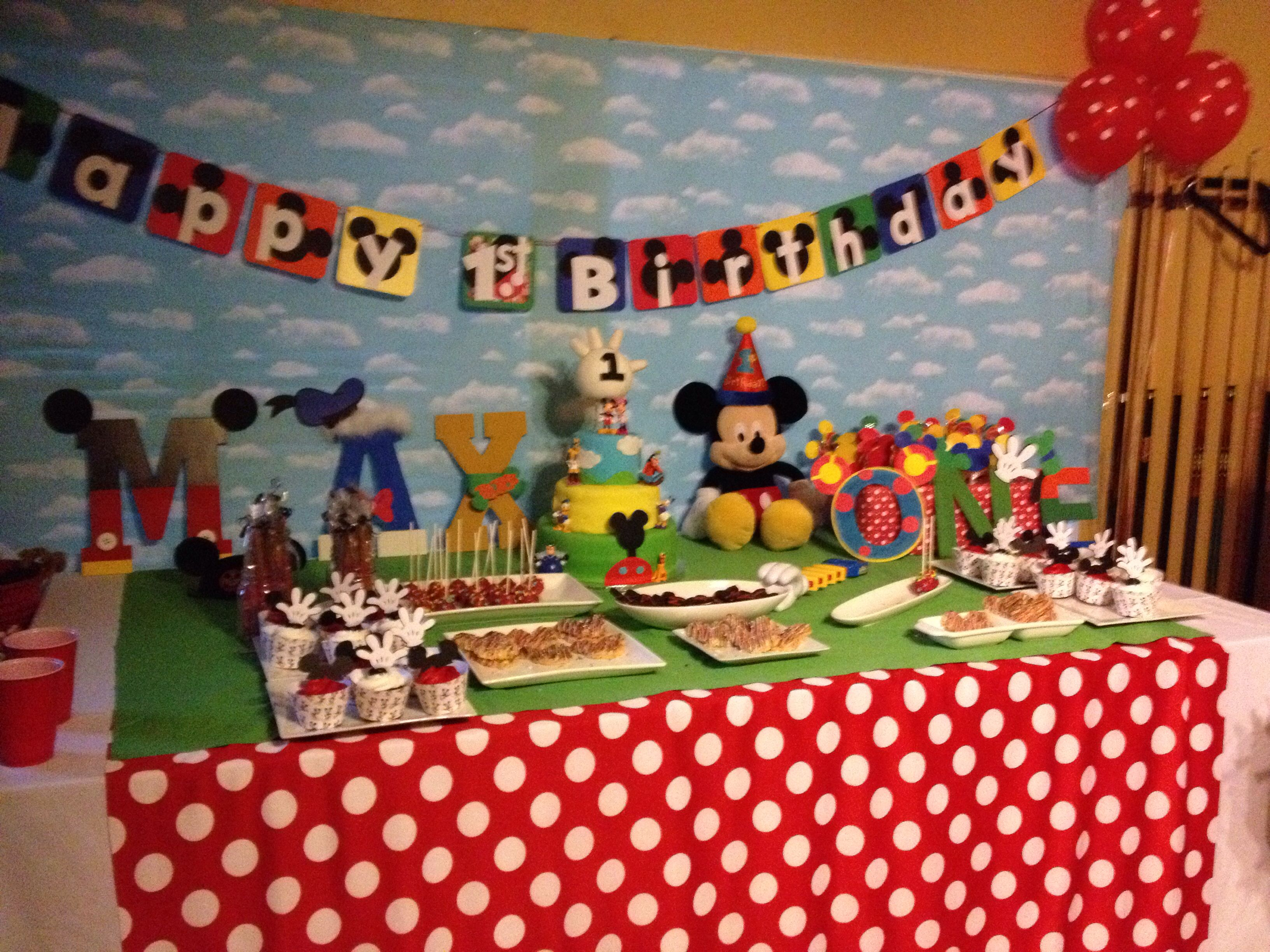 Mickey Mouse Club House Cake Table Mickey Mouse Clubhouse Cake Mickey Party Mickey Mouse 1st Birthday