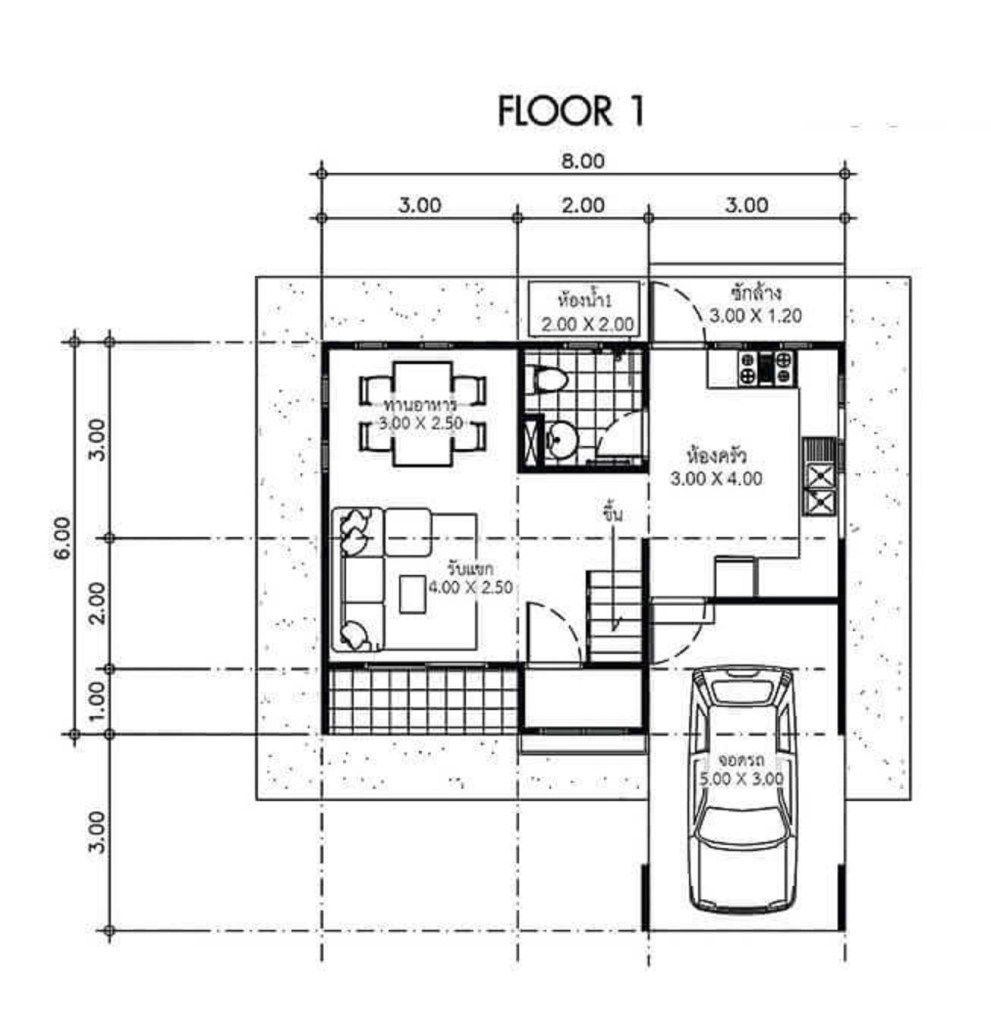 House Plans Idea 8x6 With 3 Bedrooms Sam House Plans House Plans Small Modern House Plans My House Plans