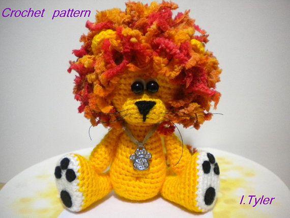 Lion Crochet Pattern Amigurumi : Crochet pattern amigurumi crochet lion pattern olly by hugles