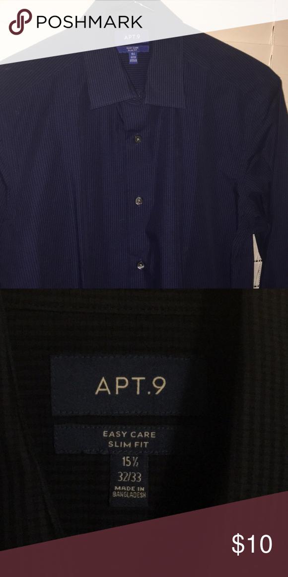 Men\'s button up dress shirt Apartment nine easy care slim ...