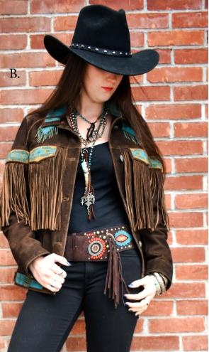 TASHA POLIZZI NORA LEATHER JACKET | Women's Western Jackets
