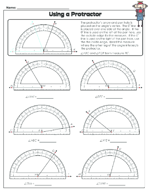 Using A Protractor 2 Tiger Pack Pinterest Protractor Free