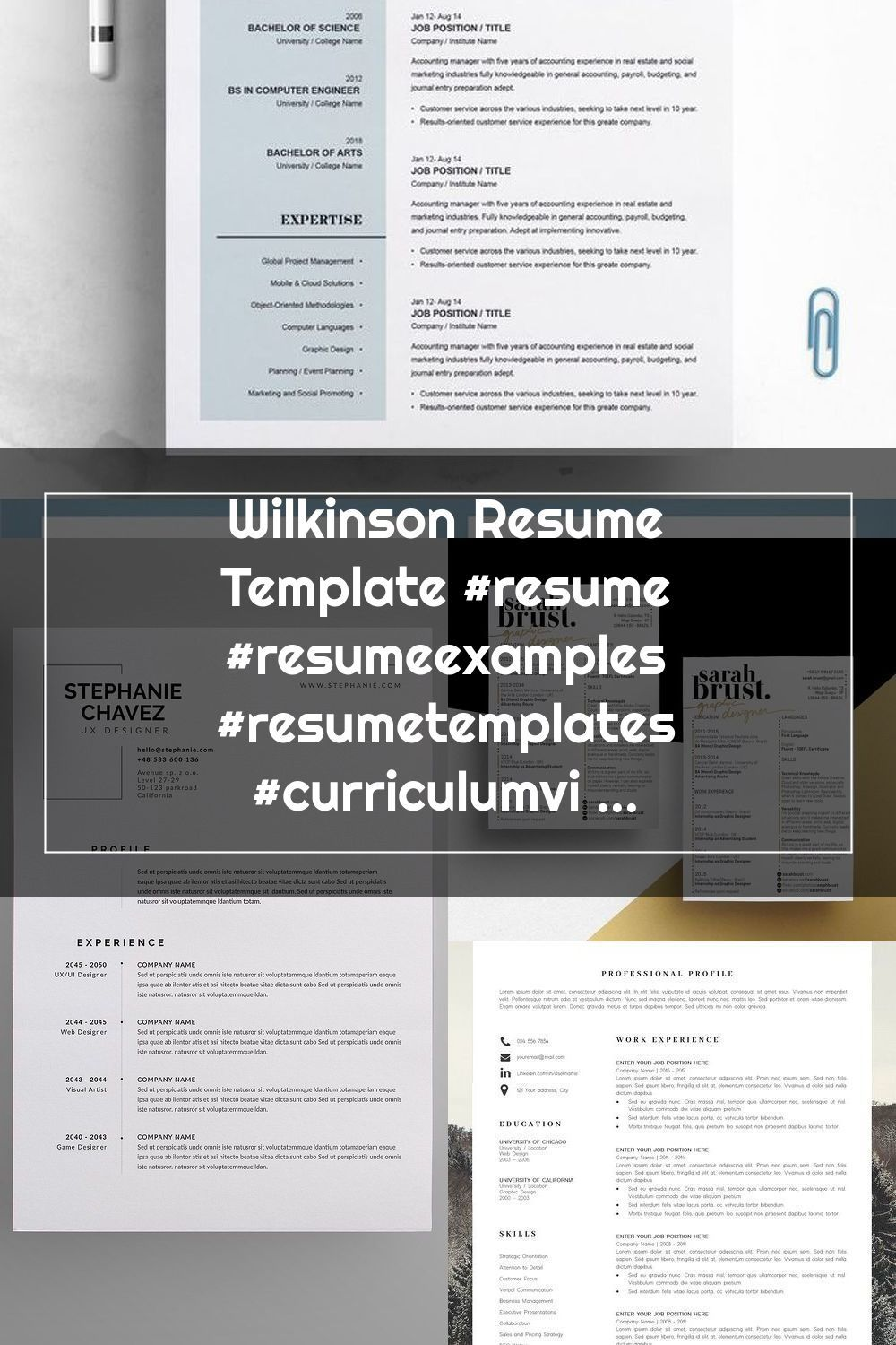 Pin on Graphic Designer Resume