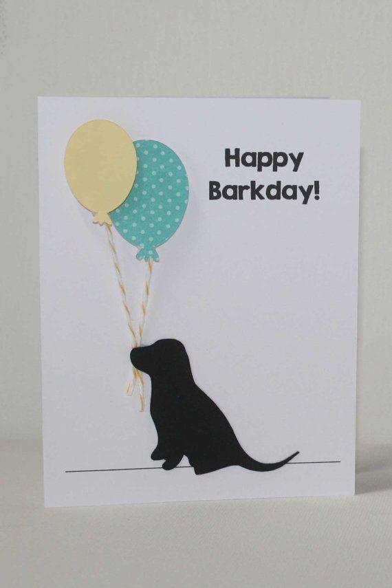 Dog Birthday Card Labrador Puppy Happy By JillyBearDesigns