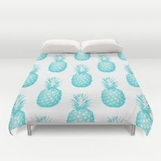 teal pineapple duvet cover house ideas pinterest parure de lit menthe et chambres. Black Bedroom Furniture Sets. Home Design Ideas