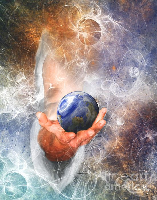 He's Got The Whole World In His Hand by Jennifer Page | Prophetic art, Jesus art, Jesus pictures