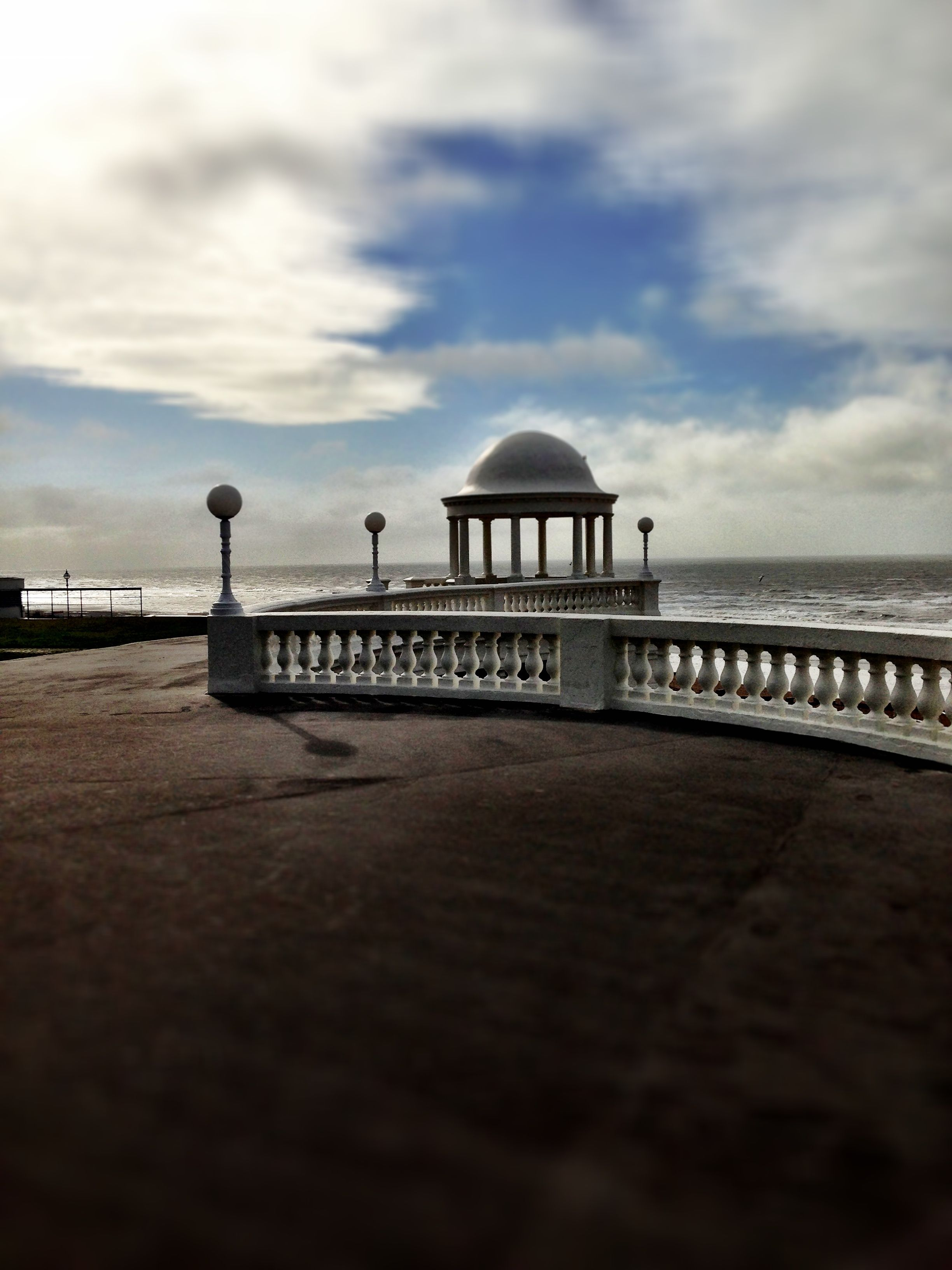 Love living by the sea. On top of the Colonnade in front of De La Warr Pavilion, Bexhill-on-Sea, East Sussex, Great Britain x