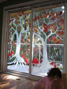 Mit Kindern Schöne Fensterbilder Im Herbst Basteln Und Malen