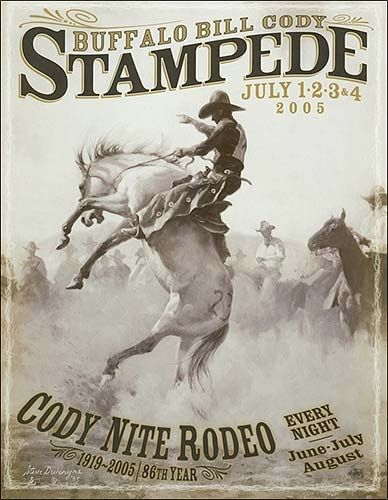 2005 Buffalo Bill Cody Stampede Rodeo Poster Rodeo