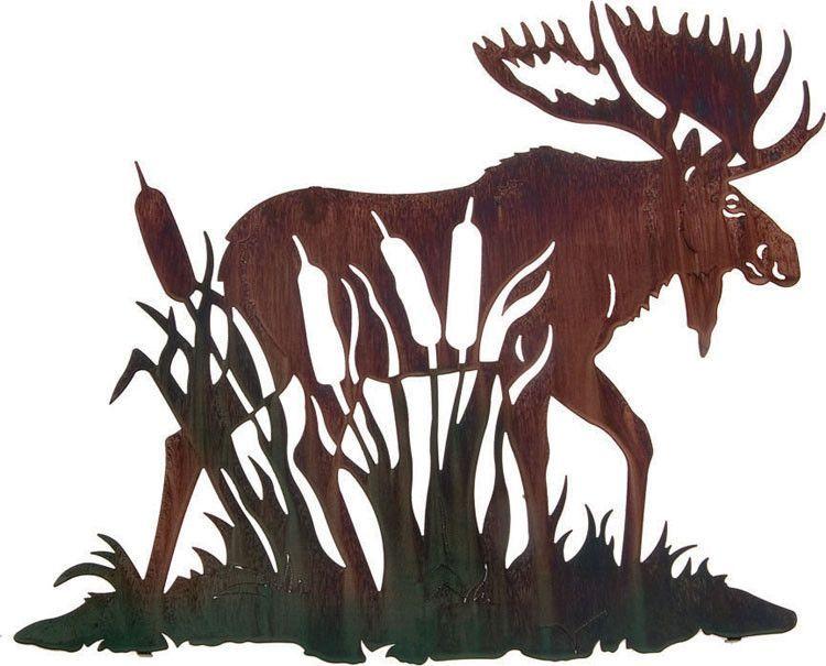 Moose In The Marsh Metal Wall Hanging Lobzik Hudozhniki Fajly Dlya Vyrezaniya