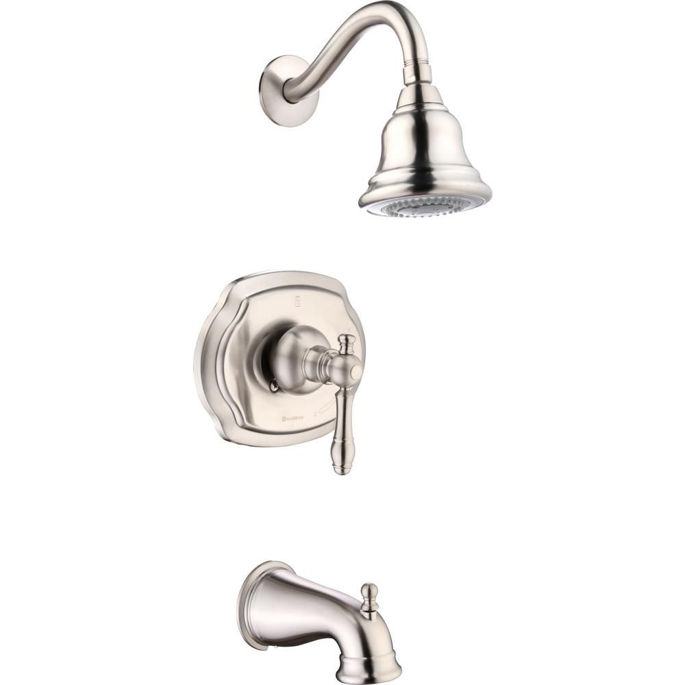 Glacier Bay Lyndhurst Single Handle 3 Spray Tub And Shower Faucet