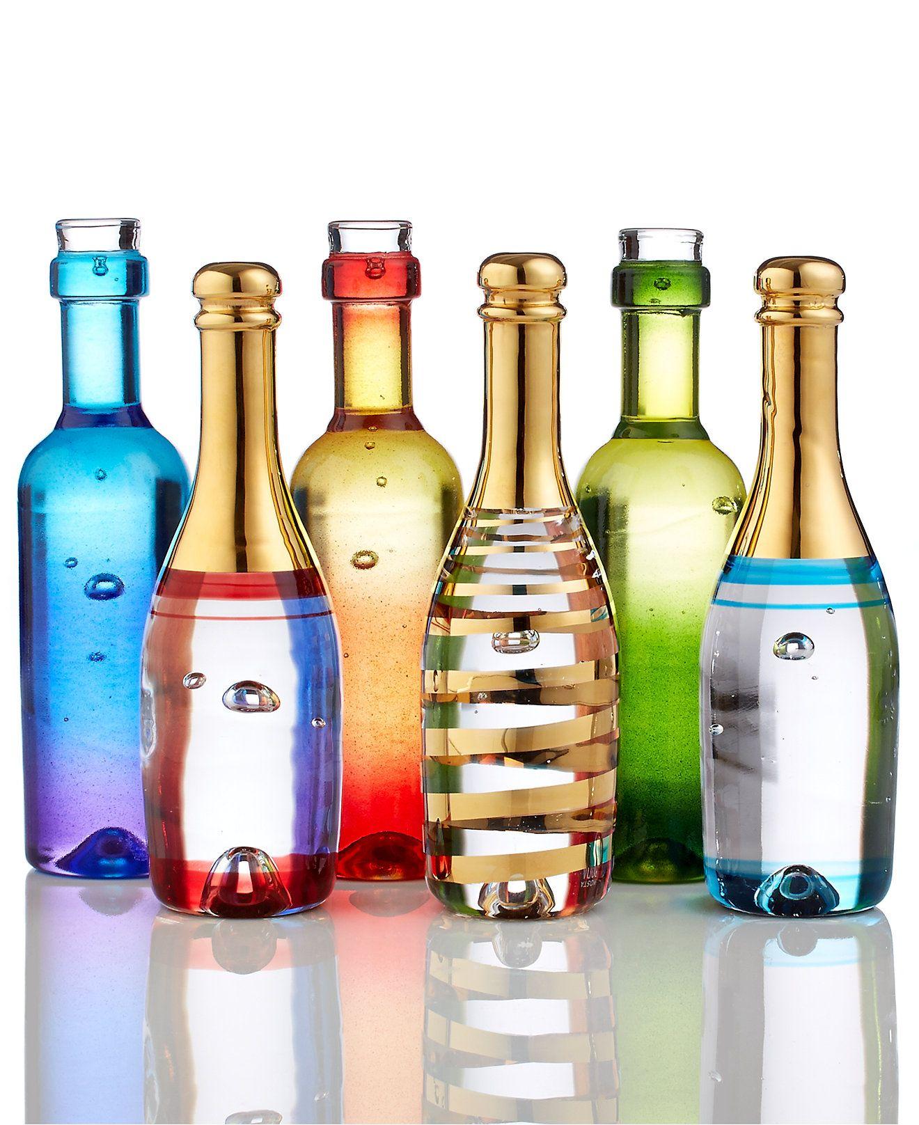 Kosta Boda Celebrate Champagne And Wine Bottles Collection Home Decor For The Home Macy S Bottle Wine Bottle Kosta Boda