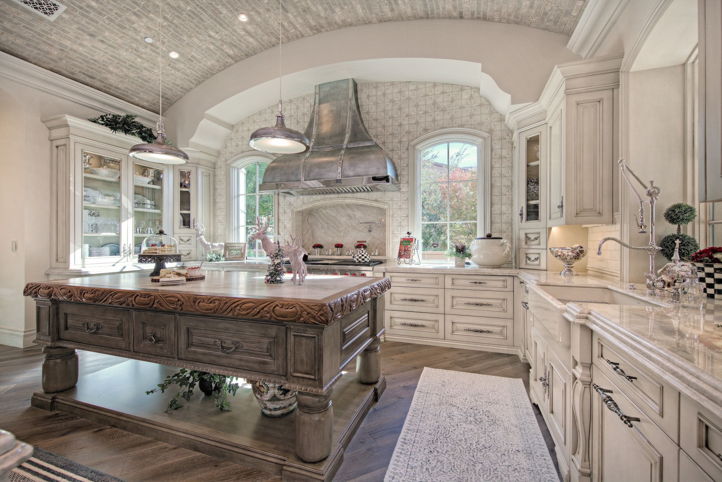 luxury french villa custom home kitchen wood floors white interior luxury home decor french on kitchen remodel french country id=96954