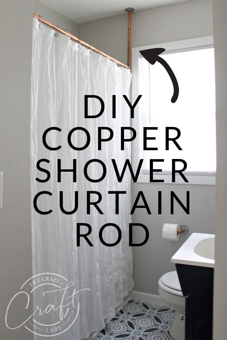 No Welding Needed A Diy Copper Shower Curtain Rod Shower