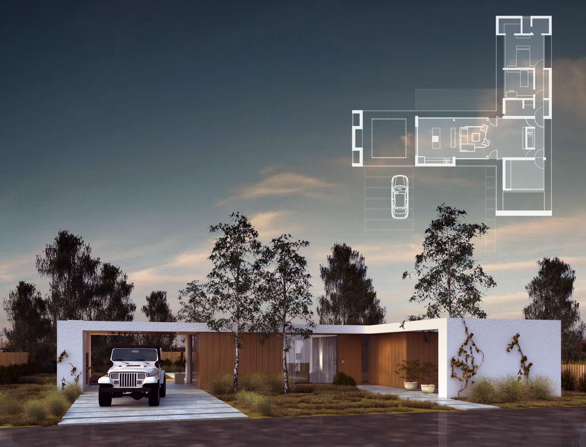 Render lucas zatko basic horizontal house pinterest Minimalistisches haus grundriss