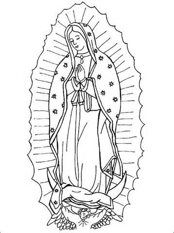 virgen de los angeles colouring pages