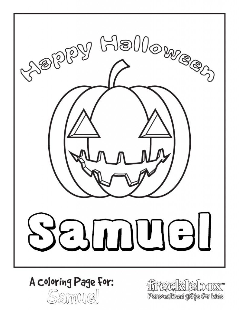 Free Personalized Printable Halloween Coloring Pages | Halloween ...