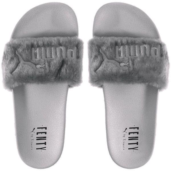 6888ffdcc866 FENTY PUMA by Rihanna The Fur Slide - WOMEN - FENTY PUMA by Rihanna -...  ( 90) ❤ liked on Polyvore featuring shoes