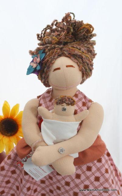 VBAC Birthing and Breastfeeding MamAmor doll -  TINA | MamAmor Dolls
