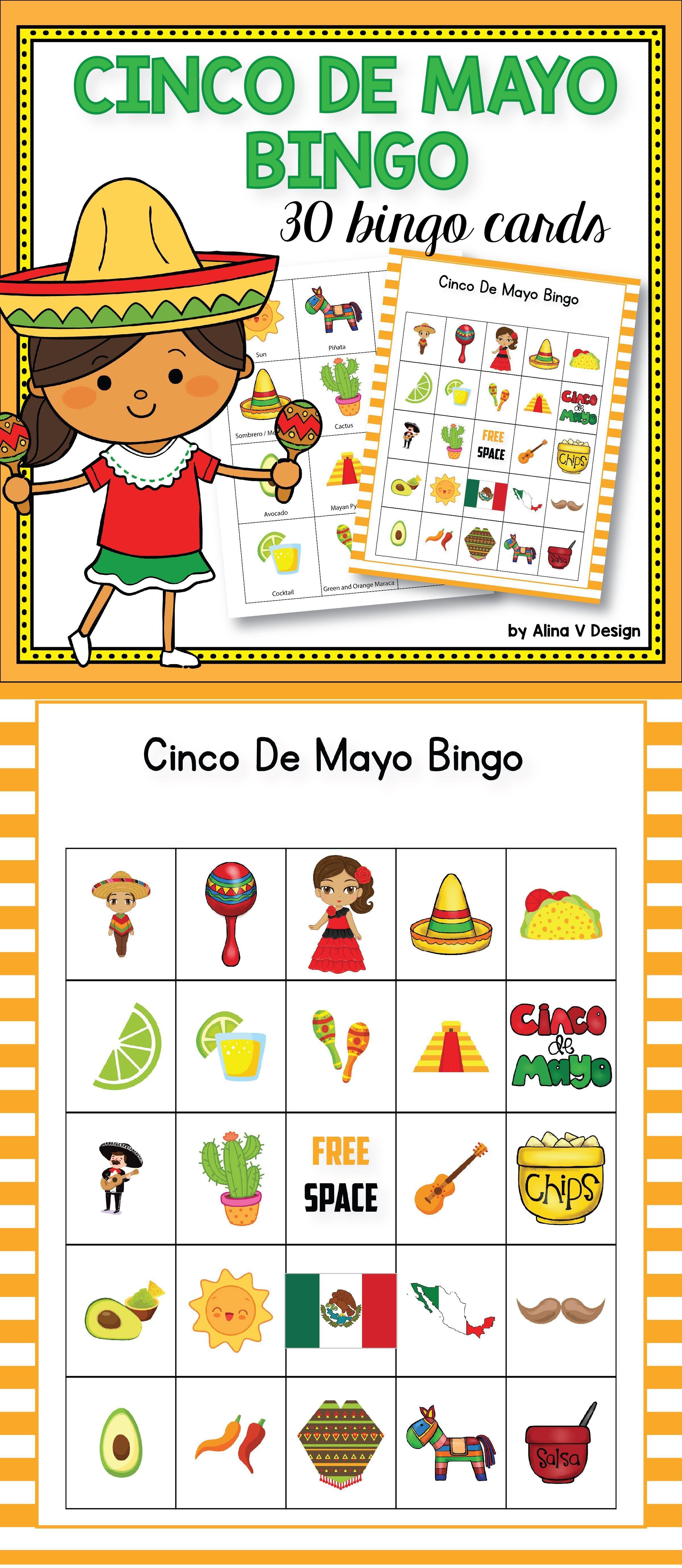 Cinco de mayo bingo cinco de mayo activities bingo for