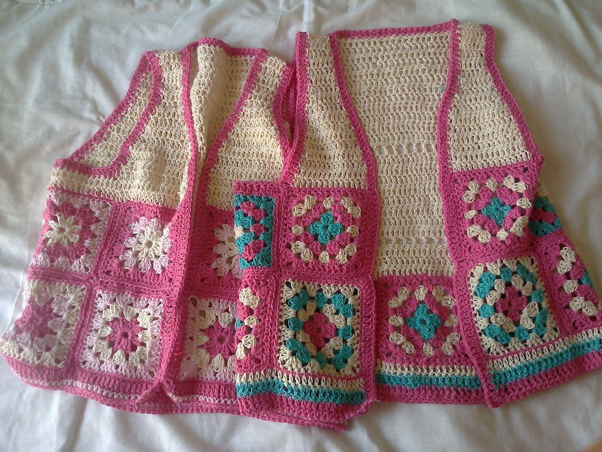 Chalecos crochet para nenas   croche   Pinterest   Chaleco crochet ...