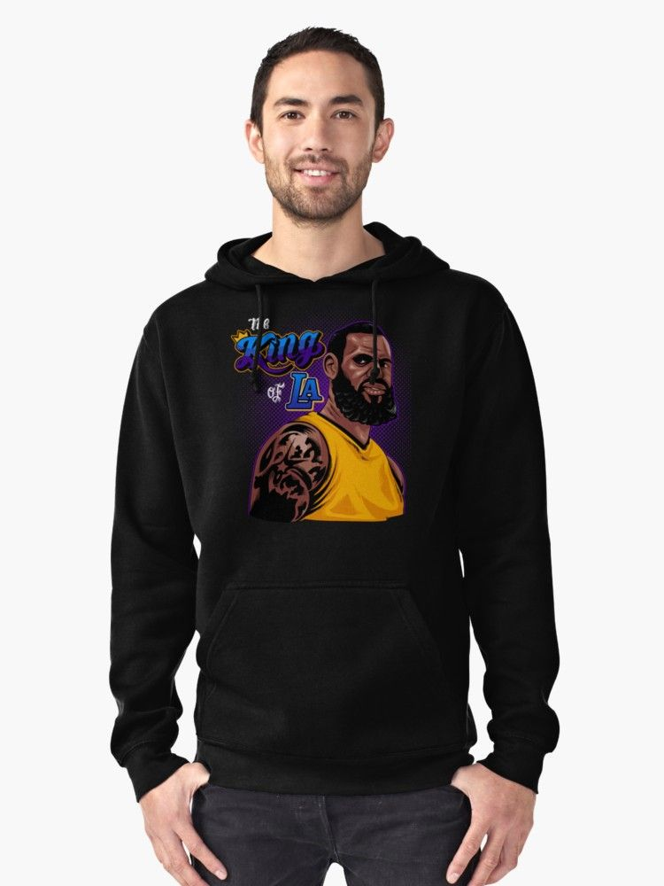 2130fe2ff5f8 Lil Peep T shirt Pullover Hoodie Front. LeBron James The King Of LA  Pullover Hoodie