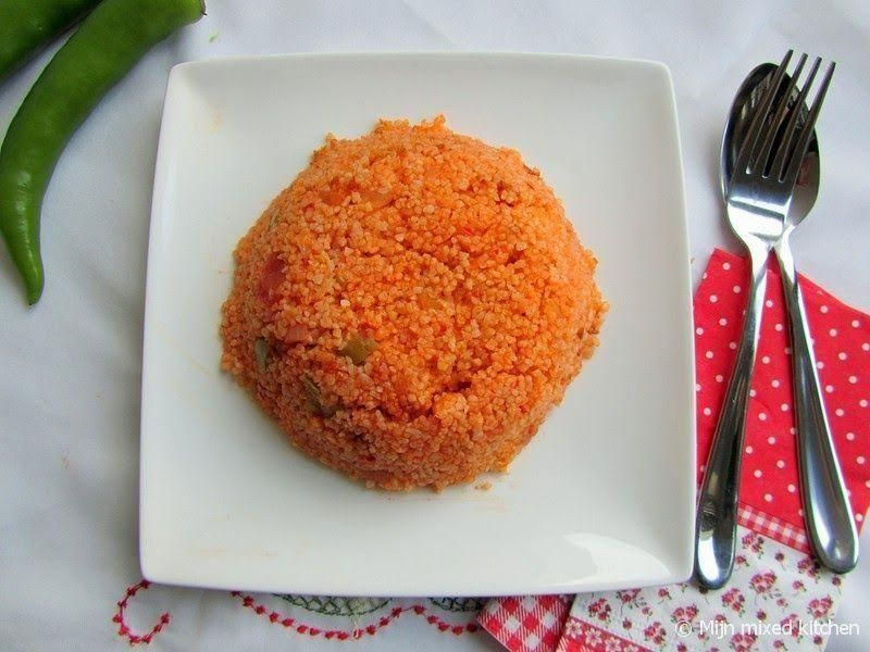 My mixed kitchen Bulgur pilaf with tomatoes Turkish red rice from bulgur  Wer   Turkish Recipes