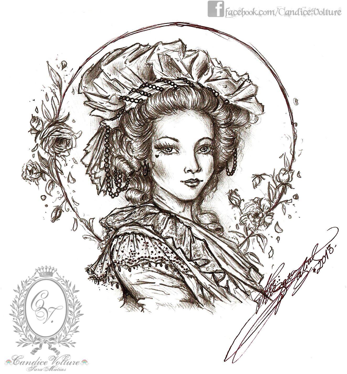 La Dame des Roses Rouges - Sketch