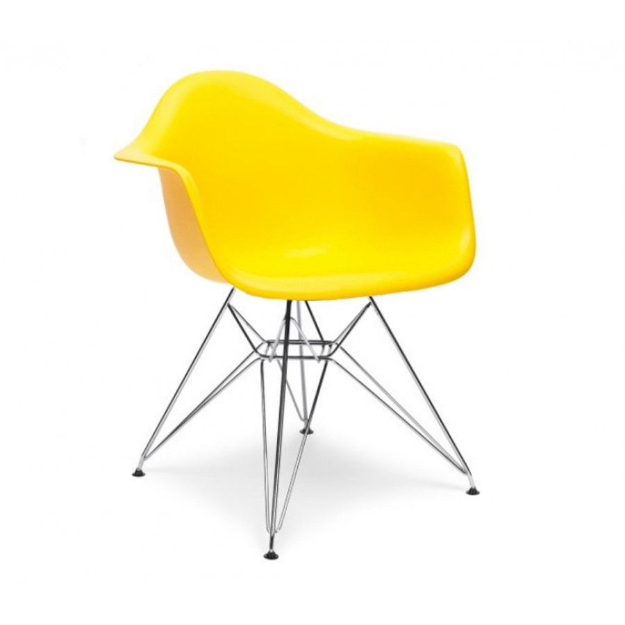 Charles Ray Eames Style Dar Arm Chair Yellow