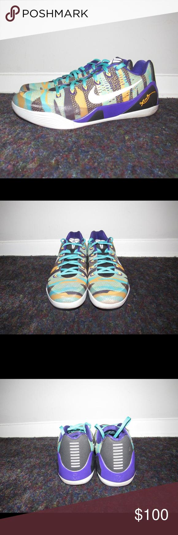 new product 2abff c41e9 Nike Kobe 9 IX EM Pop Art Basketball Shoes Lakers - Nike Kobe 9 IX EM