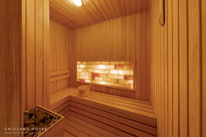 Sauna Room At The Spa Chicland Hotel