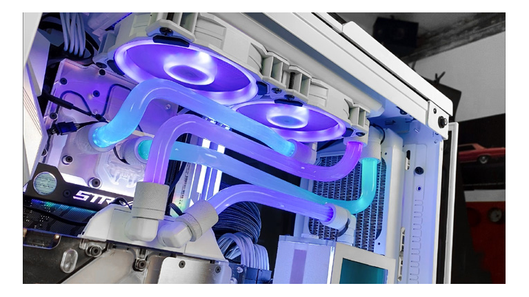 Neon Rgb Hard Line Water Cooled Pc Case Mod Lighting Effect How To