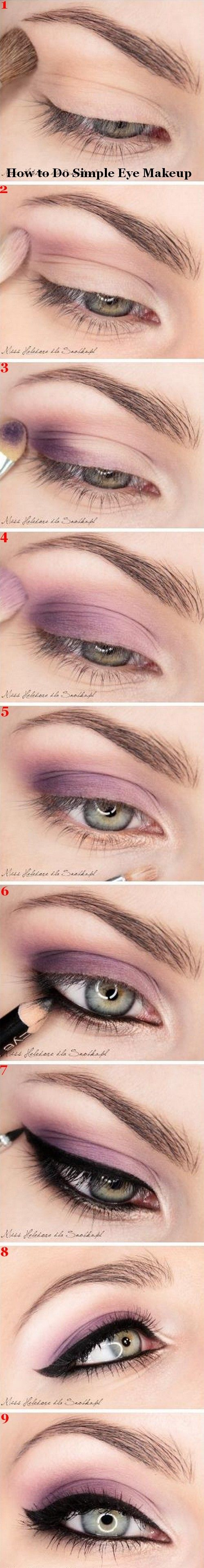 How to do simple eye makeup.