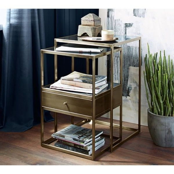 Pottery Barn Bexley Nesting Bedside Tables, Set Of 2 ($549) ❤ Liked On