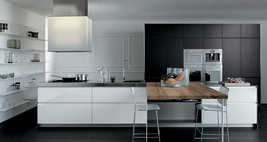 Modern kitchen designs interior from elmar cucine grey ans white