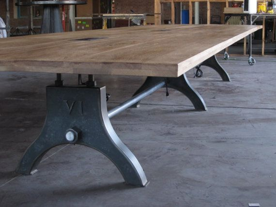 Industrial Conference Table Vintage Industrial HURE Conference - Vintage industrial conference table