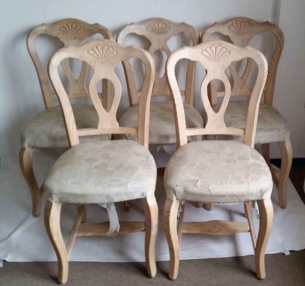 Details zu 5x Stuhl Küchenstuhl Esszimmer Holz \