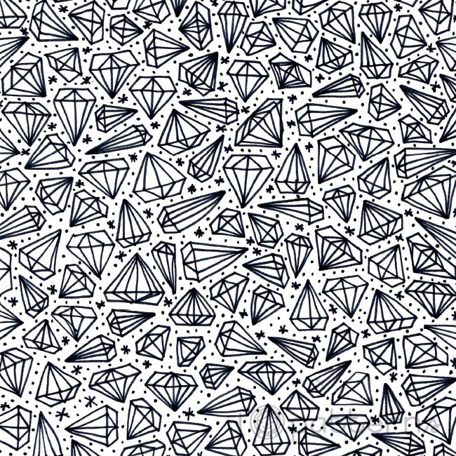Black And White Diamonds Handmade Pattern Design C Ankepanke Http Iheartpatterns Nl Print Patterns Pattern Art Pattern