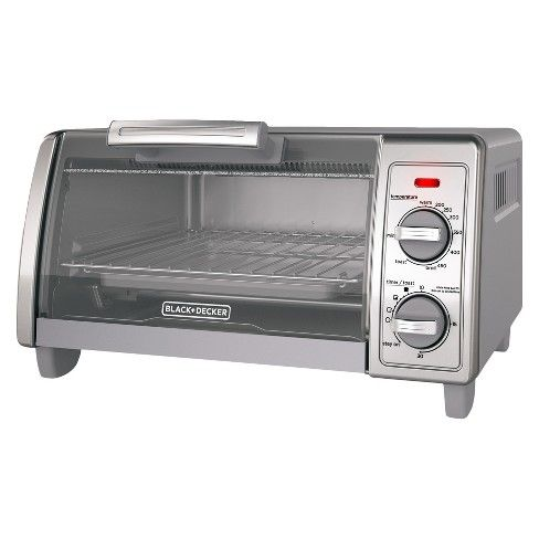 Black Decker 4 Slice Toaster Oven Stainless Steel To1700sg With