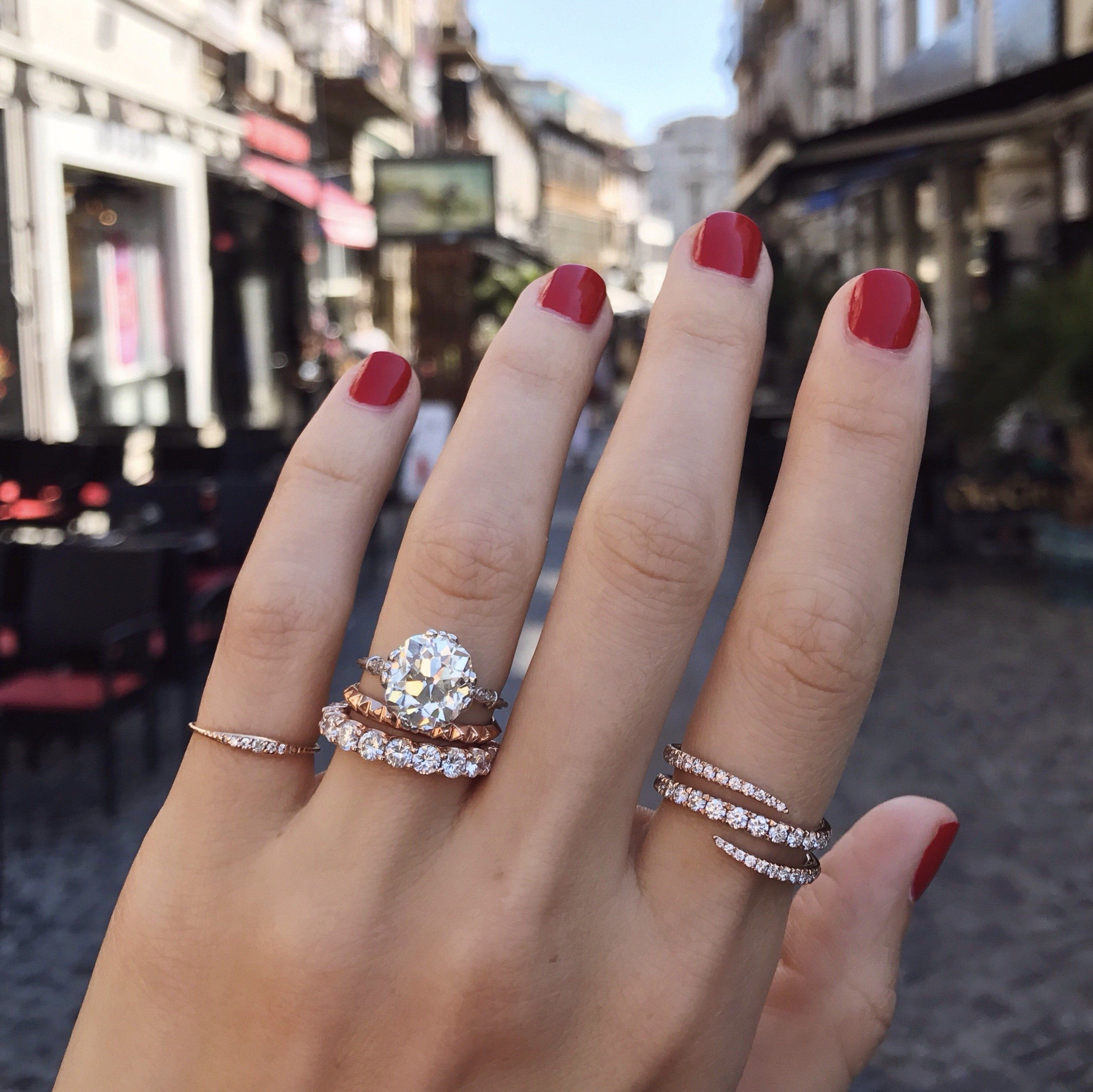 Diamond Wrap Ring Diamond Wrap Ring Morganite Engagement Ring Rose Gold Round Diamond Eternity Band